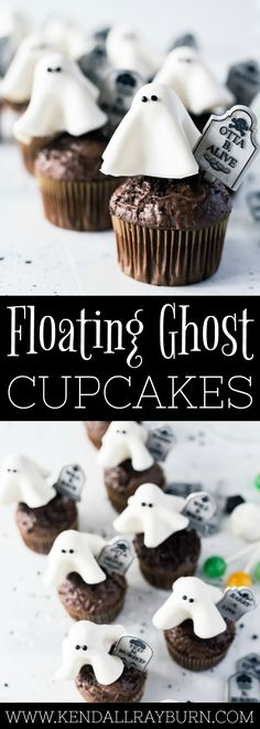 Floating Ghost Cupcakes - perfect to make for school parties!
