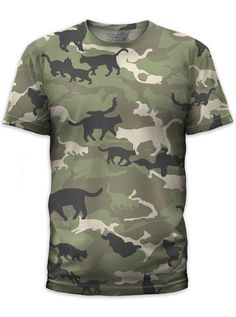 "Men's+""Catmouflage""+Tee+by+Goodie+Two+Sleeves+(Cat+Camo)"