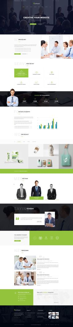 GoAhead - Finance & Business PSD Template  is perfect for various business domains such as finance, investment #agency, #accountant #consultant or enterprises website.