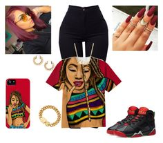 """""""❣"""" by kira101-101 ❤ liked on Polyvore featuring Pacific Beach, H&M, Marc by Marc Jacobs and Jordan Brand"""