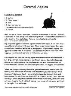 marta writes: DIY caramel apples