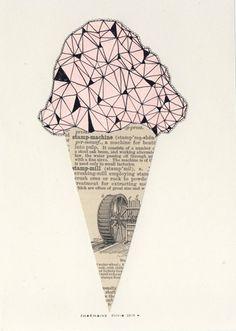 icecream illustration #icecream #illustration #graphic art