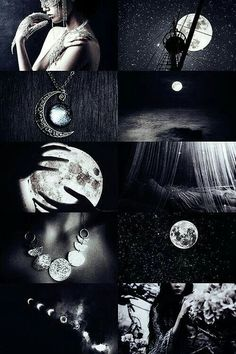 """ Greek mythology meme: titans ↳ Selene "" Selene was the titan goddess and the divine personification of the Moon. She was a daughter of Hyperion, the titan of light, and the sister of Eos and. Wiccan, Magick, Witchcraft, Foto Fantasy, Fantasy Kunst, Witch Aesthetic, Aesthetic Collage, Photocollage, Moon Goddess"