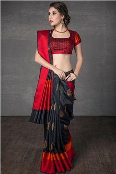 Indian Dress Bollywood Dance Performance Dresses Sri Lanka Saree Blouse India Sari for Women Clothes Sare Bangladesh Cotton Saree Designs, Blouse Designs Silk, Blouse Patterns, Choli Designs, Saree Draping Styles, Saree Styles, Indian Dresses, Indian Outfits, Indian Clothes