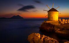 GREECE CHANNEL   a windmill in aegiali village in #amorgos, #Greece http://www.greece-channel.com/