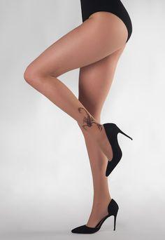 Black Scorpion Tattoo Sheer Tights
