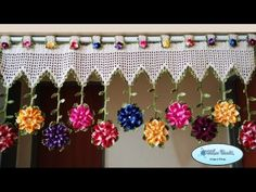 Bandô Primavera por Wilma Crochê - Parte: 1/2 - YouTube Crochet Curtain Pattern, Crotchet Patterns, Crochet Curtains, Crochet Doilies, Crochet Flowers, Crochet Lace, Love Crochet, Irish Crochet, Stitch Witchery