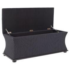 Clarendon Storage Bench in Black