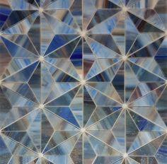 Triad in Seaboard from the Art Glass Mosaic collection   @tiletuesday @tileaddiction @tileometry #tilestyle #kitchenandbath #tiles #tiling #designbuild #interiordesign #customhome #pinterest #designinspo #decorideas