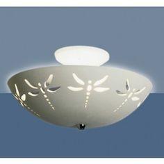 "13.5"" Dragonfly Motif Ceramic Ceiling Light - Children's Ceiling Lighting - Children's Lighting   Fabby.com"