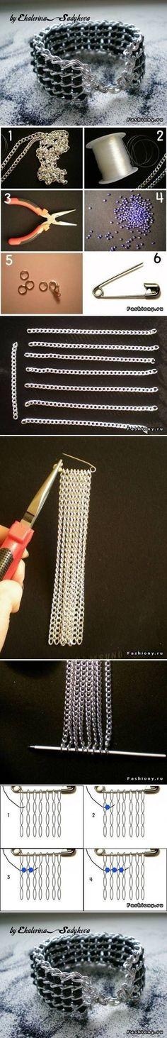 DIY Nice Wide Bracelet