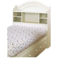 Summer Breeze Twin Bookcase Headboard In White Wash