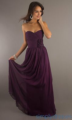 need a fancy dress for the party !!   Classic Long Strapless Gown at SimplyDresses.com