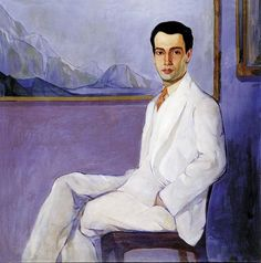 Portrait of Celso Kelly, 1926 by Candido Portinari (Brazilian Celso Kelly devoted himself to teaching , journalism and literature.the son of Octavio Kelly a Brazilian magistrate and writer.three-piece suit in white. Diego Rivera, Monet, Illustrations, Illustration Art, Clemente Orozco, Montage Photo, Artist Names, Figurative Art, American Art