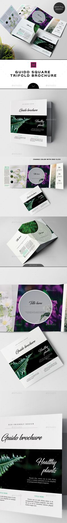 Guido Eco Garden Square Brochure Template InDesign INDD. Download here: https://graphicriver.net/item/guido-eco-garden-square-brochure/17655632?ref=ksioks