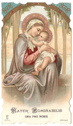 Admirable Mother Mary & Baby Jesus Vintage by 12StarsVintage