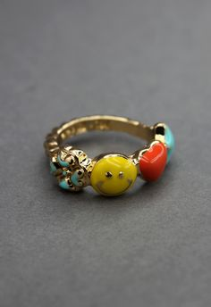 Smile Face Clover Heart Ring - Rings - Accessory - Retro, Indie and Unique Fashion