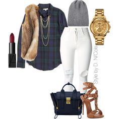 A fashion look from December 2014 featuring Madewell blouses, Calypso St. Barth vests and (+) PEOPLE jeans. Browse and shop related looks.