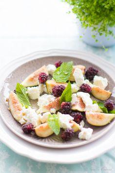 Fresh Figs with ricotta and Mint * Figos frescos com ricotta e hortelã  suvellecuisine.com