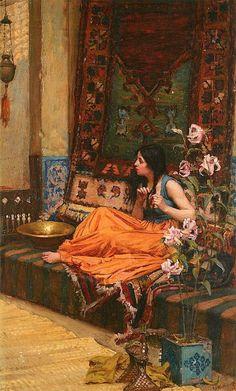 John William Waterhouse (1849-1917) In the Harem