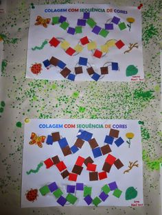 COLAGEM COM SEQUÊNCIA DE CORES Preschool Activities, Crafts For Kids, Cycle 1, Bonding Activities, Preschool Literacy Activities, Painting Activities, Learning Activities, Kids Activity Ideas, Preschool Math
