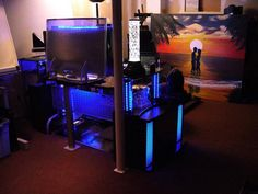 Charming 5 Impressive Workstations With LED Lighting Gallery