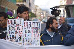 Manifestazione migranti ad Avellino
