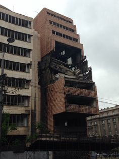 The old Ministry of Defence in Belgrade, still left in ruins after the NATO bombings. When I first saw turned the corner and saw this, it left me physically breathless for a second. A sad sight and powerful reminder of the destruction of the amazing socialist land of Yugoslavia, where everyone lived equally and people thrived. I've heard Donald Trump wants to knock this down and build a luxury hotel on the land. What an awful, awful shame.