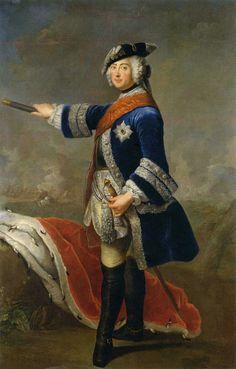 Antoine Pesne (1683-1757) —  Portrait of Friedrich II of Prussia (1712-1786), 1746 (654×1024)
