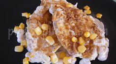 Pollo a la crema de cebolla