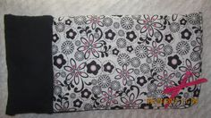 READY to SHIP Now Hot Pink and Black Flower fabric Sleeping Bag will fit 18 inch American Girl Dolls, birthday party by JMagaClothing on Etsy