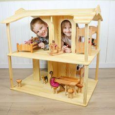 Dollhouse Kits, Wooden Dollhouse, Eco Friendly Toys, Popular Toys, Barbie Furniture, Barbie House, Play Houses, Handmade Toys, Custom Items