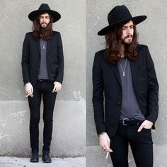 The Kooples Black Jacket, H Black Shoes, {this look has been done before; back in 1972} DUDE YOU'RE NOT ORIGINAL !!!!
