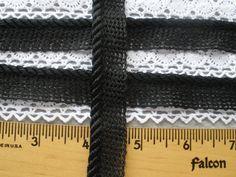 "1 yard Navy Blue GIMP Velvet Insertion sewing non stretch BRAID trim 1//2/"""