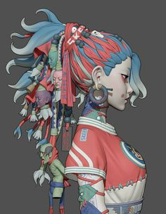 3d Model Character, Character Concept, Character Art, Concept Art, Cyberpunk Girl, Cyberpunk Character, Black Anime Characters, Female Characters, Low Poly Characters