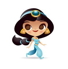 Kawaii Disney Princess - Jasmine by Jerrod Maruyama, via Flickr