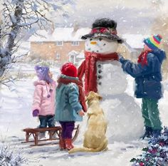 Kids+With+Snowman