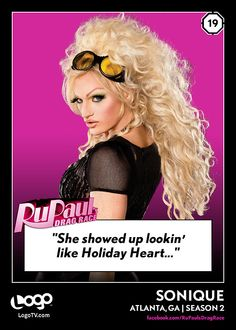 RuPaul's Drag Race TRADING CARD THURSDAY #19: SoniqueRepin if you're a huge Sonique fan!