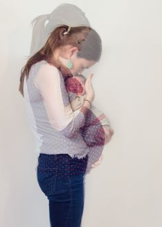 Maternity double exposure by top Northern Virginia maternity photographer Rachel K Photo.
