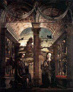 [Renaissance] Cosme Tura c. 1469 Annunciation Volets d'orgue, Ferrara, Musée de l'oeuvre