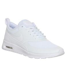Nike Air Max Thea White - Hers trainers #shoes #offduty #covetme