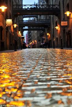 A street in London was paved with a gold like surface to promote the launch of #HTC One golden colored smartphone. Find more: http://impressivemagazine.com/2014/01/09/london-street-paved-with-gold-to-promote-golden-htc-one/