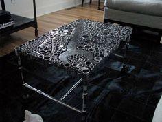 Incredible Man Cave Furniture Gear Tool Coffee Table