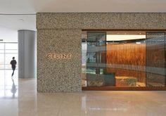 Céline Flagship Store IFC Hong Kong — Casper Mueller Kneer Ltd Architects — London & Berlin Signage Design, Facade Design, Architects London, Shop Facade, Store Fronts, Store Design, Celine, Hong Kong, Entrance