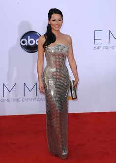 my all time favorite Emmy dress - Lucy Liu with Versace (2012)