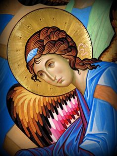 The icon - painters Giovanni Raffa and Laura Renzi (Italy) Byzantine Icons, Byzantine Art, Religious Icons, Religious Art, Paint Icon, Angels Beauty, Art Through The Ages, Angel Images, Archangel Raphael