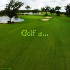 My Favorite thing to do when I am not running... #Golf #Quotes #Courses