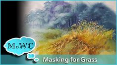 Painting a Grassy Field in Watercolor – Masking Fluid Technique Watercolor Masking Fluid, Watercolor Painting Youtube, Watercolor Painting Techniques, Watercolour Tutorials, Watercolor Texture, Watercolor Artists, Painting Lessons, Watercolor Landscape, Watercolor Flowers