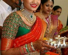 Are you looking for bridal blouse designs for pattu sarees? Here is the photo collection of silk saree blouse designs designs available read more. Wedding Saree Blouse Designs, Pattu Saree Blouse Designs, Fancy Blouse Designs, Wedding Blouses, Sari Blouse, Hand Work Blouse Design, Indiana, Silk Sarees, Kanjivaram Sarees