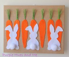 Purple Hues and Me: Bunny Rabbits Burlap Canvas Craft      BULLETIN BD IDEA